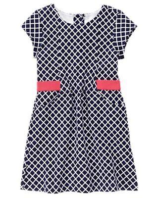 NWT Gymboree Best in Show Diamond Print Dress SZ 4,5 6,7,8 (Gymboree Best In Show)