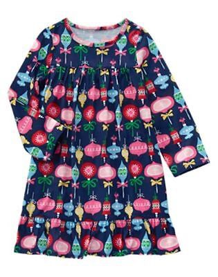 NWT GYMBOREE Ornaments Nightgown 3/4 5/6 7/8 10/12 Pajama Girls Christmas