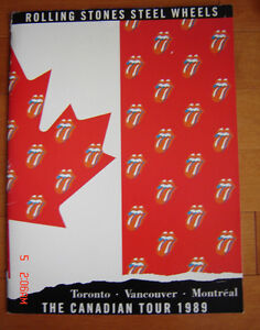 Rolling Stones Steel Wheels 1989 Canadian Tour Book & Ticket