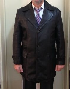 Vintage Authentic Leather German Jacket Brooklyn Park West Torrens Area Preview