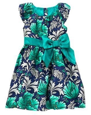 Nwt Gymboree Christmas Emerald Party Floral Dress Girls 5 6 7 8 10 Holiday
