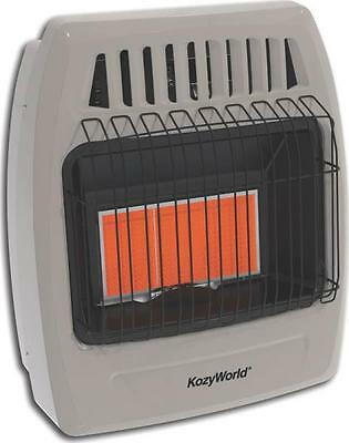 New Kozy World Kwn391 Infrared Natural Gas Heater 3 Plaque Wall Mount 4494894