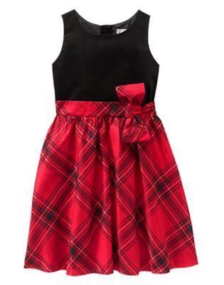NWT Gymboree ROYAL RED Plaid Dress 5,6,7,8,10,12 Christmas Girls