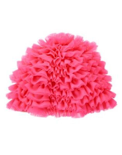 NWT Gymboree Swim Shop Ruffle Pink Swim Cap hat 12 24mo 2T 3T toddler girl