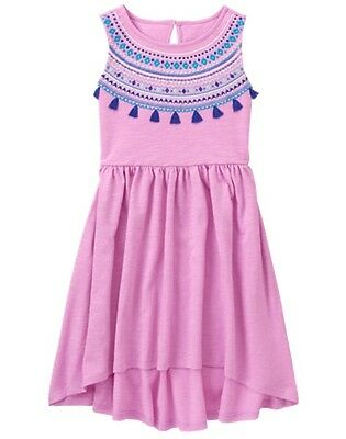 NWT Gymboree Jungle Brights Pink Tassel Dress 6,7,8,12 Girls