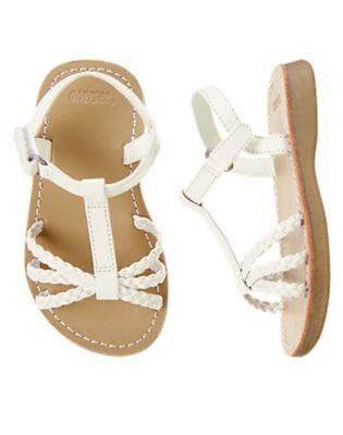 NWT Gymboree Island Cruise White Braided Sandals Gummy Shoes  4 5 6 8  9 10  - White Gummy
