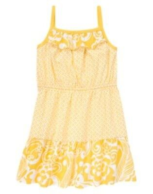 NWT Gymboree YELLOW and BLACK Yellow Knit Floral Dress Girls 5 6 7 8