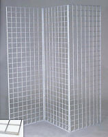 Chrome Finished 2 ft x 8 ft Grid Panels, Great condition, 11 pcs
