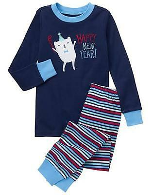 NWT Gymboree Boys Holiday Gymmies Pajamas set happy NEW YEAR ManySizes (Boys Holiday Pajamas)