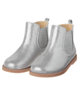 NWT Gymboree Butterfly garden Silver Ankle Boots Many sizes toddler kid Girls