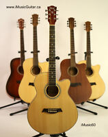 Acoustic Guitars for entry level to intermediate players !