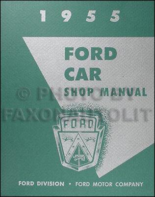 1955 Ford Car Repair Shop Manual Thunderbird Fairlane Mainline Customline T bird