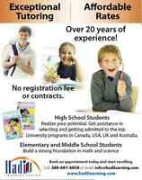 Exceptional Tutoring - Affordable Rates - Grades 3-12