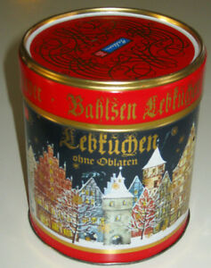 BAHLSEN Lebkuchen Christmas Biscuit Storage Tin HANNOVER GERMANY