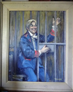 "Opera, Original Oil by Geoffrey Traunter ""Die Fledermaus"", 1977 Stratford Kitchener Area image 1"