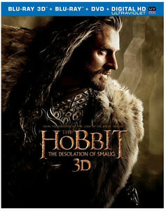 The Hobbit Desolation of Smaug 3D blu ray combo New Kitchener / Waterloo Kitchener Area image 1