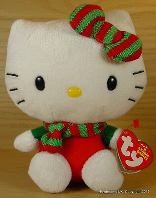 HELLO KITTY TY Beanie WINTER WARM Soft toy Miffy Christmas Outfit New!
