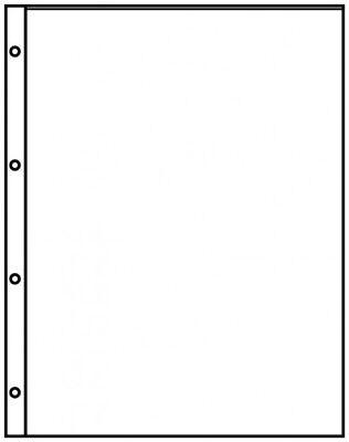 Lindner 8811 Klarsichthüllen mit 1 Tasche inkl. 10 schwarze Zwischenblätter