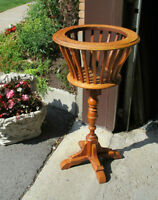 Vintage Wood Plant / Flower Stand