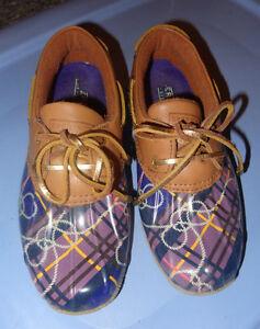 Sperry top sider souliers bottes pluie mauve rain boots shoes 5