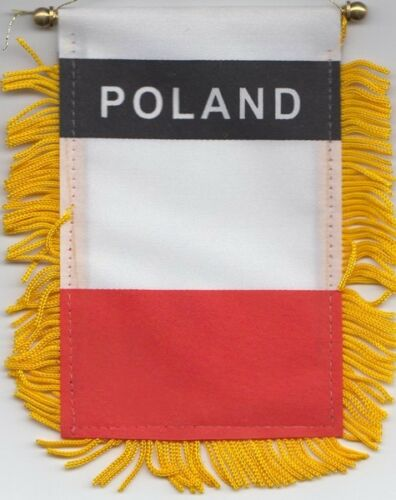 Poland Federal Flag Hanging Car Pennant for car Window or Rearview Mirror
