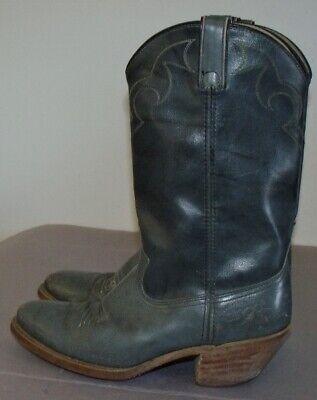 Men's Acme Dingo Gray Western Boots Size 8D