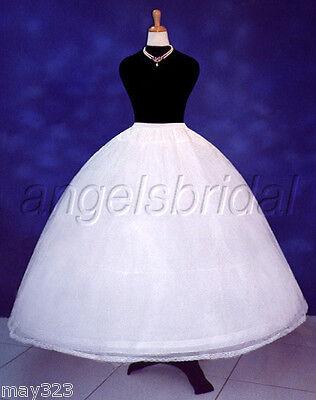 4 HOOP BONE SUPER FULL BRIDAL WEDDING GOWN DRESS PETTICOAT CRINOLINE SKIRT - Crinoline Slip