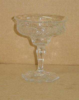 EAPG PURITAN ROCK CRYSTAL SHERBET MCKEE GLASS 1894