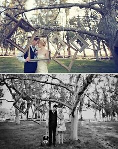 Wedding decor Rustic outdoor picture frames photo booth