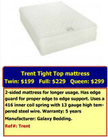 Trent double-sided mattress Twin size $199