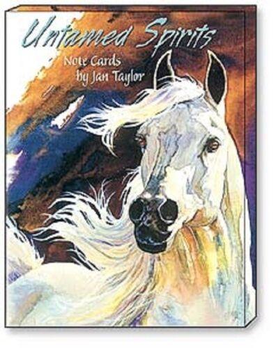 LEANIN TREE Untamed Spirits 12 Greeting Card Asstmt #34603~3 ea 4 designs~Horses