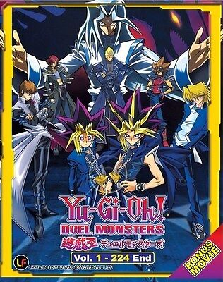 YU GI OH! Duel Monsters | Episodes 001-224 | English Subs | 9 DVDs (M1620)-LU