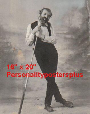 "WC Fields~w/ Pool Stick~Pool~Pool Hall~Billiards~Poster~16"" x 20"" Photo"