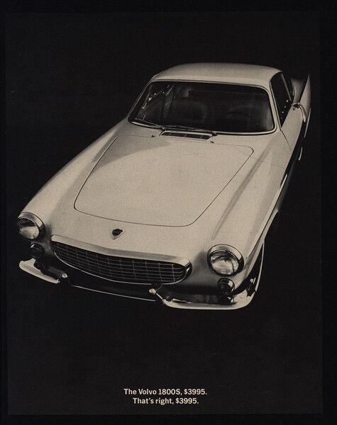 1964 VOLVO 1800S Sports Car $3995 VINTAGE ADVERTISEMENT