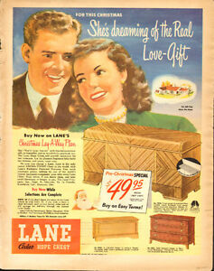 1948 full page color ad for Lane Cedar Chests