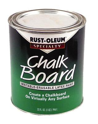 Rust-Oleum 206438 Brush-On Chalkboard Paint, Green, 1 Qt - Green Chalkboard Paint