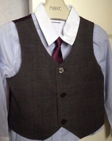 Boys (Ladybird) waistcoat, shirt and tie. Suit age 1-2 years