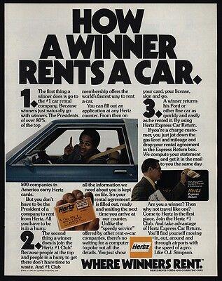 1979 O J  Simpson   Hertz Car Rental   How A Winner Rents A Car   Vintage Ad