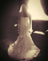 Wedding Gown, Veil and Belt for sale - $1000