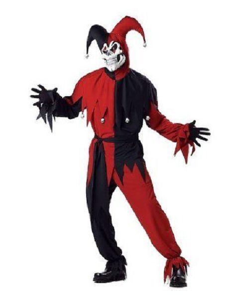 Evil Jester Costume Adult Size Plus 48.52