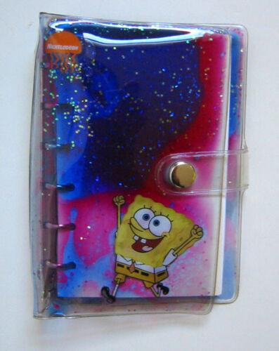 Rare Sponge Bob Square Pants Liqiid Glitter Notepad/Book Nickelodeon NEW