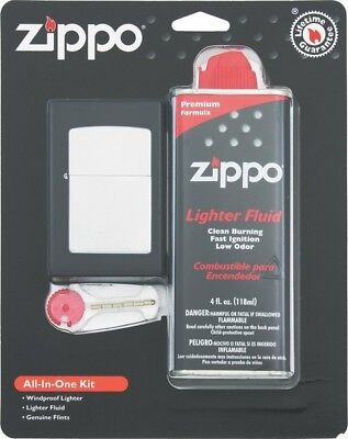 Zippo ZO19305 All-In-One Lighter Kit Chrome Includes 4oz Fluid
