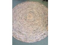 Beautiful handmade newspaper woven rug