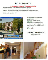 Winston Churchill - townhouse for sale Mississauga by Owner