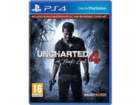 uncharted 4 in mint only played once only £25 call mohammed on 07944 017 915