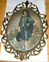 Blue Boy by Gainsborough, Italy, metal frame 1950's(?)