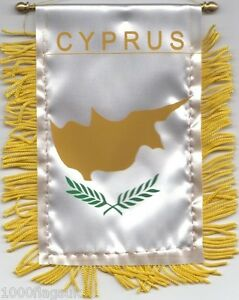 Cyprus-Cypriot-Flag-Hanging-Car-Pennant-for-Car-Window-or-Rearview-Mirror