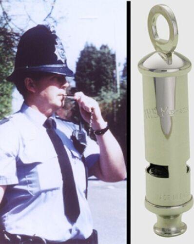ACME of England British Metropolitan Nickel-Plated Brass Police Bobby Whistle