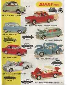 Corgi Toys, Dinky Toys, Spot on Triang, Tekno, Lesney, Tinplate + Other Vintage Diecast WANTED