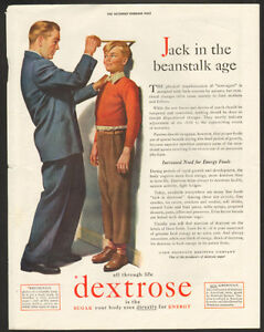 Large Vintage1943 full-page color ad for dextrose sugar